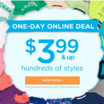 Gymboree Online Sale: Prices start at $3.99!