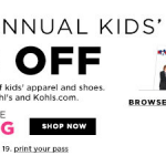 Kohl's $10 off code for kids clothing!