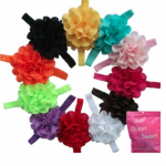 Baby flower headbands just $.58 each SHIPPED!