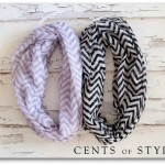 2 Chevron Print Infinity Scarves just $11.95 shipped!