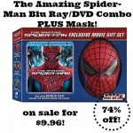 Amazing Spider-Man Blu Ray/DVD Combo plus Mask only $9.96!