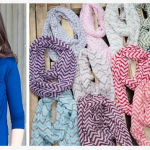 Chevron Print Infinity Scarves just $2.99 each!