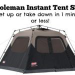 Coleman Instant Tent Sale!
