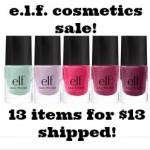 e.l.f. Cosmetics Sale: 13 items for $13 shipped!