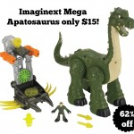 Imaginext Mega Apatosaurus only $15!