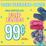 The Children's Place Flip Flops only $.79!