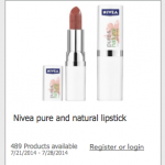 FREE Nivea Pure & Natural Lipstick Product Testing Opportunity!
