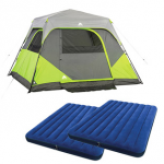 Ozark Trail 6 Person Instant Tent plus air mattresses for $99