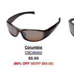 Columbia Sunglasses only $8.49 shipped!