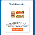 Kroger Free Friday:  FREE PowerBar!