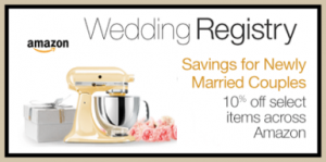 Wedding Gift List Amazon : ... Amazon Wedding Registry customers only For 90 days after your wedding
