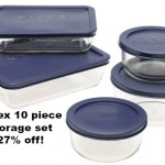 Pyrex 10 piece storage set 34% off!