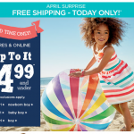 Gymboree everything $14.99 or less plus FREE SHIPPING!