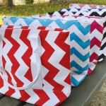 Colorful Chevron Tote Bags only $8.95!