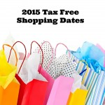 2015 Tax Free Shopping Dates!