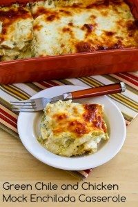 green-chile-mock-enchilada-casserole