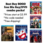 Best Buy BOGO free Blu Ray/DVD Combo Packs!