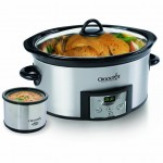 Crock-Pot 6-Quart Countdown Oval Slow Cooker with Dipper 45% off!