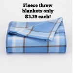 Kohl's Fleece Throws as low as $3.39 shipped!