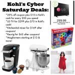 Kohl's Cyber Week Deals: sleepwear, toys, KitchenAid, Keurig & more!