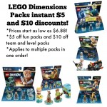 LEGO Dimensions Packs: instant $10 and $5 discounts!