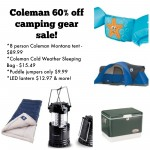 Coleman Camping Gear 60% off sale!