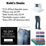 Kohl's Deals:  Rock Republic Jeans, Towels & more!