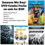 Minions and other Blu Ray/DVD Combo Packs only $10!