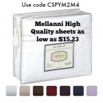 Mellani High Quality sheets as low as $15.23!