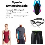 Speedo Swimsuits and accessories up to 50% off!