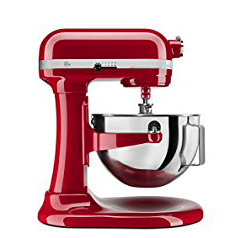 The professional 6-Quart Bowl-Lift stand mixer is perfect for heavy, dense mixtures. The burnished metal flat beater, PowerKnead spiral dough hook and 6-wire whisk will help you mix, knead and whip ingredients into culinary masterpieces quickly and easily.
