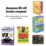 Amazon $5 off books coupon!