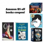 Amazon $5 off books coupon!
