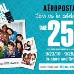 Take 25% off your online purchases from Aeropostale