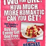 IHOP: Entrees are BOGO free on Valentine's Day!