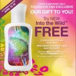 Bath and Body Works Freebie:  Into the Wild body lotion!