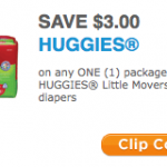 HURRY:  $3 Huggies coupon = cheap diapers this week!