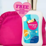 Bath & Body Works:  Get a FREE Charmed Life lotion + cosmetic bag!
