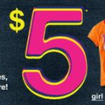 The Children's Place:  $5 sale + 15% off + 14% cash back!