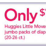 *HOT:  Get Huggies Little Movers for as low as $4 per pack!