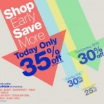 Gap:  Save 35% off your entire purchase plus get 3% cash back!