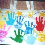 Grandparent's Day Gifts on a Budget:  Personalized Handprint Canvas Bag