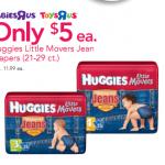 **HOT:  Huggies jean diapers as low as $3 at Babies 'R Us!