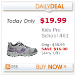 Kids' New Balance Shoes as low as $14.19 after cash back!