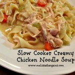 Slow Cooker Mondays:  Creamy chicken noodle soup!