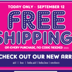 The Children's Place:  15% off + FREE shipping + 4% cash back!