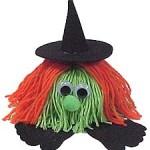 Halloween Craft: Witch and Pumpkin Yarn Bugs