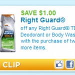 Right Guard Deals at CVS and Walgreens this week!