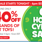 Toys 'R Us 6 Hour Cyber Sale:  6 pm-12 am ET tonight only!!