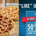 Global Domino's Pizza Day:  Save 50% on Domino's Pizza!